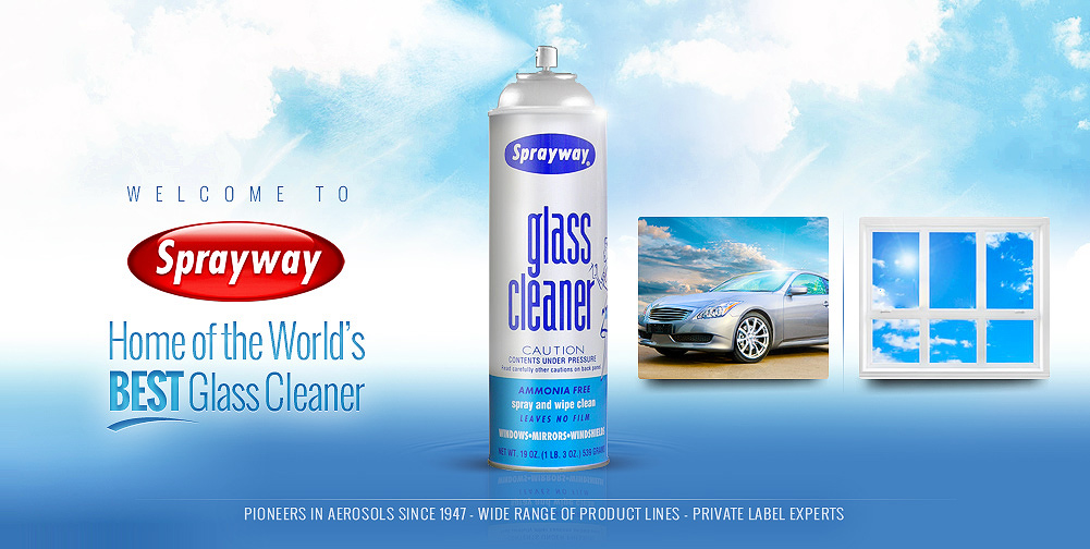 best glass cleaner sprayway inc pioneers in aerosols since 1947 world s 10880