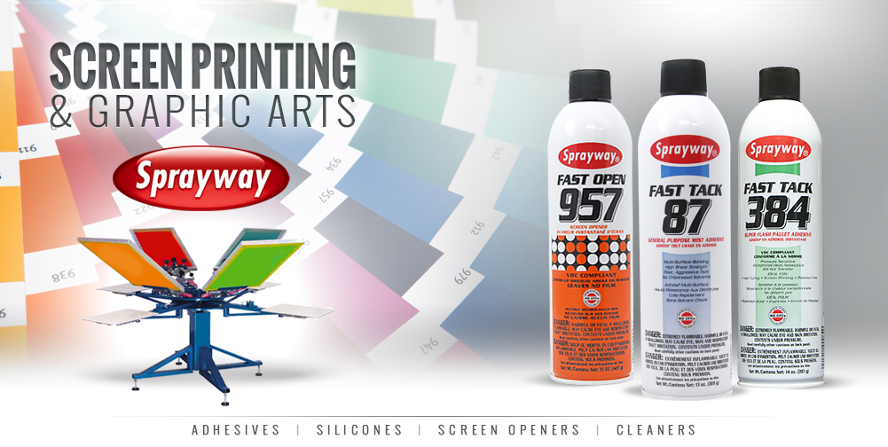 Sprayway screenprinting and graphic arts products